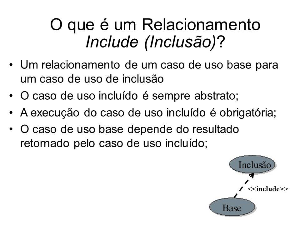 O que é um Relacionamento Include (Inclusão).