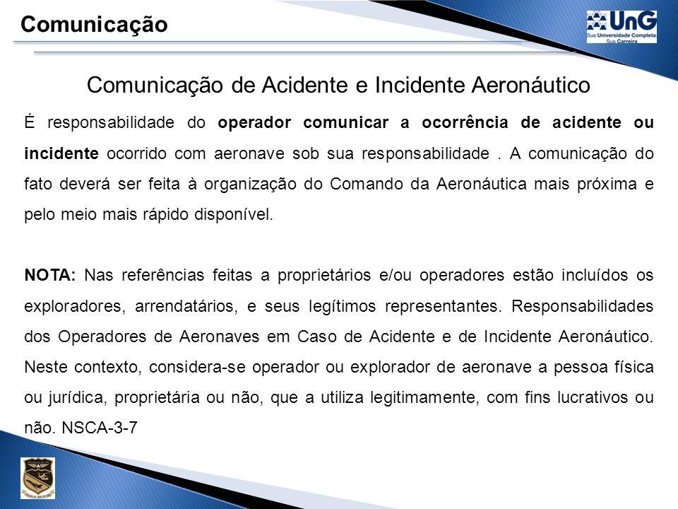 ART. 87. DO CBA (CÓDIGO BRASILEIRO DE AERONÁUTICA) A prevenção de acidentes aeronáuticos é de responsabilidade de todas as pessoas, naturais ou jurídi