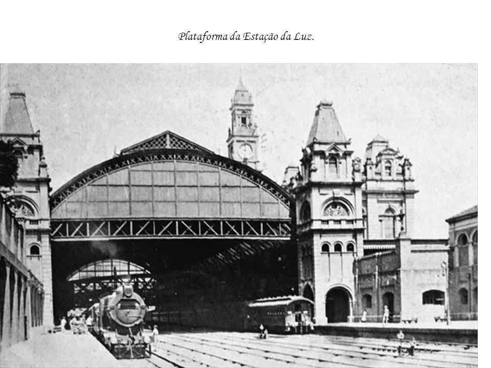 Plataforma da Estação da Luz.