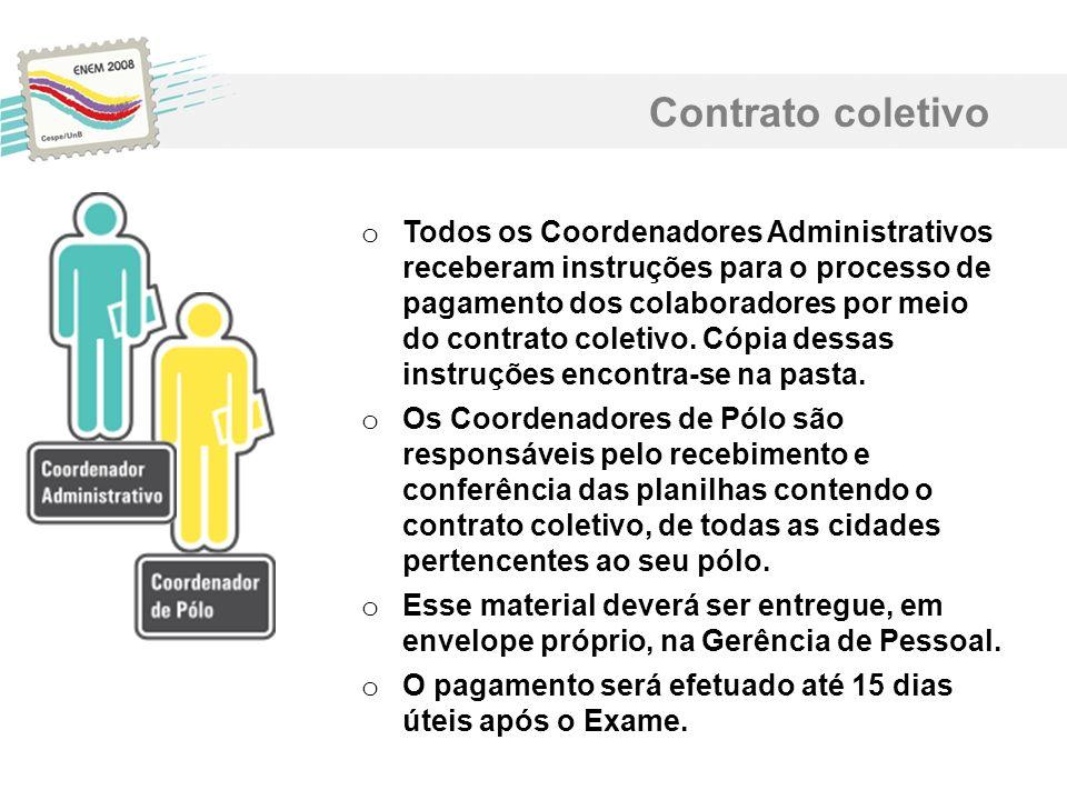 Contrato coletivo o Todos os Coordenadores Administrativos receberam instruções para o processo de pagamento dos colaboradores por meio do contrato co