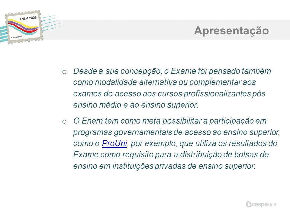 o Desde a sua concepção, o Exame foi pensado também como modalidade alternativa ou complementar aos exames de acesso aos cursos profissionalizantes pó