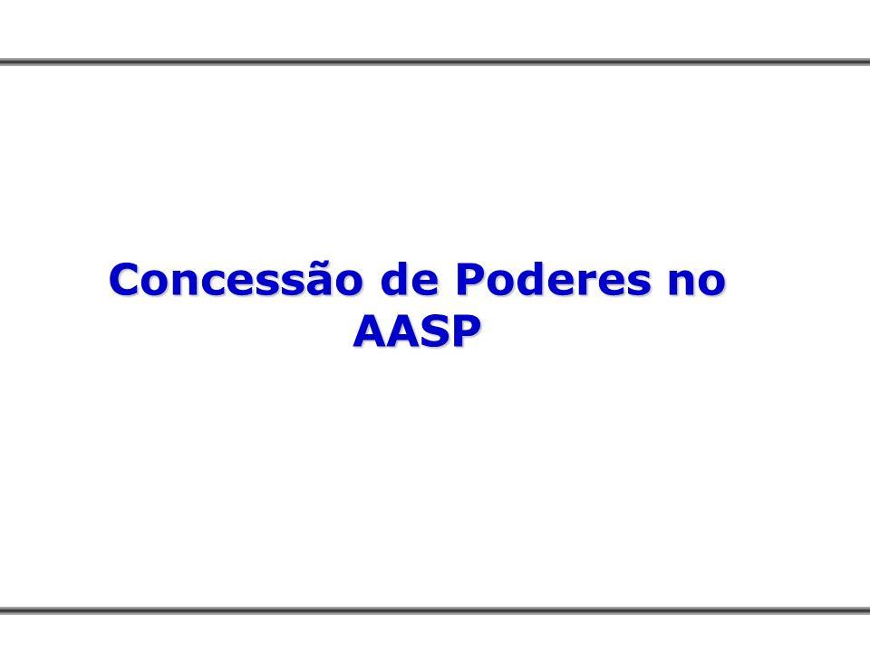 Concessão de Poderes no AASP