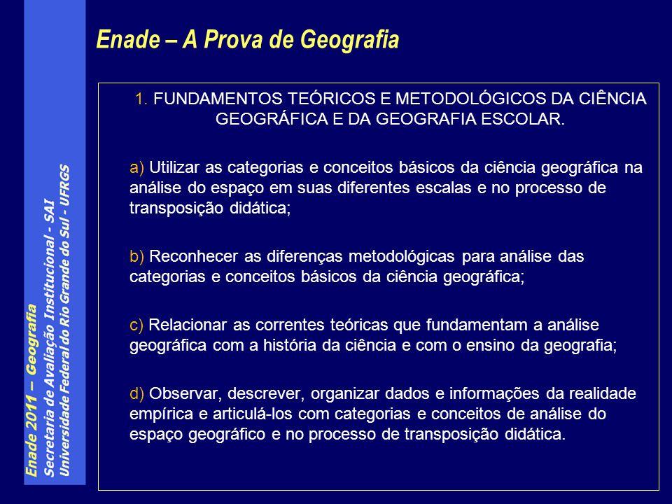 1. FUNDAMENTOS TEÓRICOS E METODOLÓGICOS DA CIÊNCIA GEOGRÁFICA E DA GEOGRAFIA ESCOLAR.