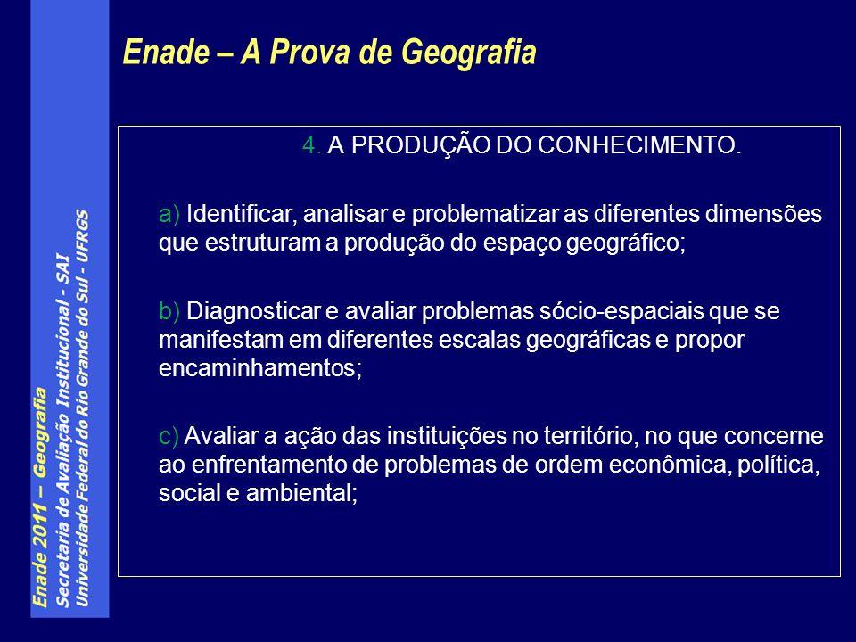 4. A PRODUÇÃO DO CONHECIMENTO.