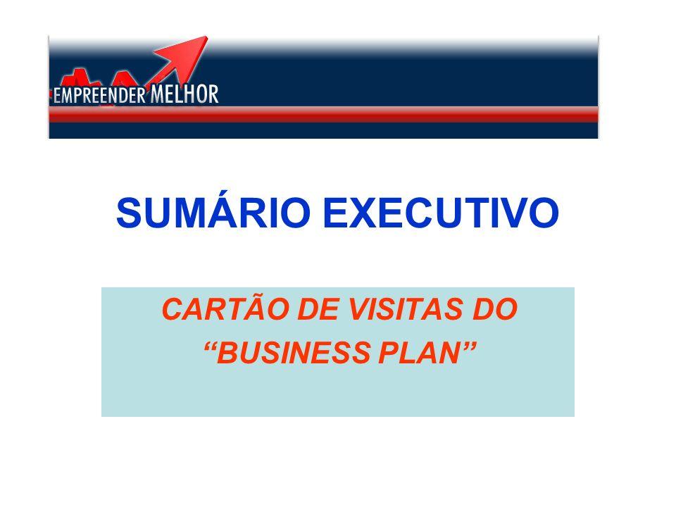 SUMÁRIO EXECUTIVO CARTÃO DE VISITAS DO BUSINESS PLAN