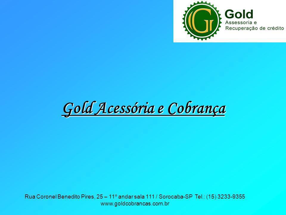 Rua Coronel Benedito Pires, 25 – 11º andar sala 111 / Sorocaba-SP Tel.: (15) 3233-9355 www.goldcobrancas.com.br Gold Acessória e Cobrança