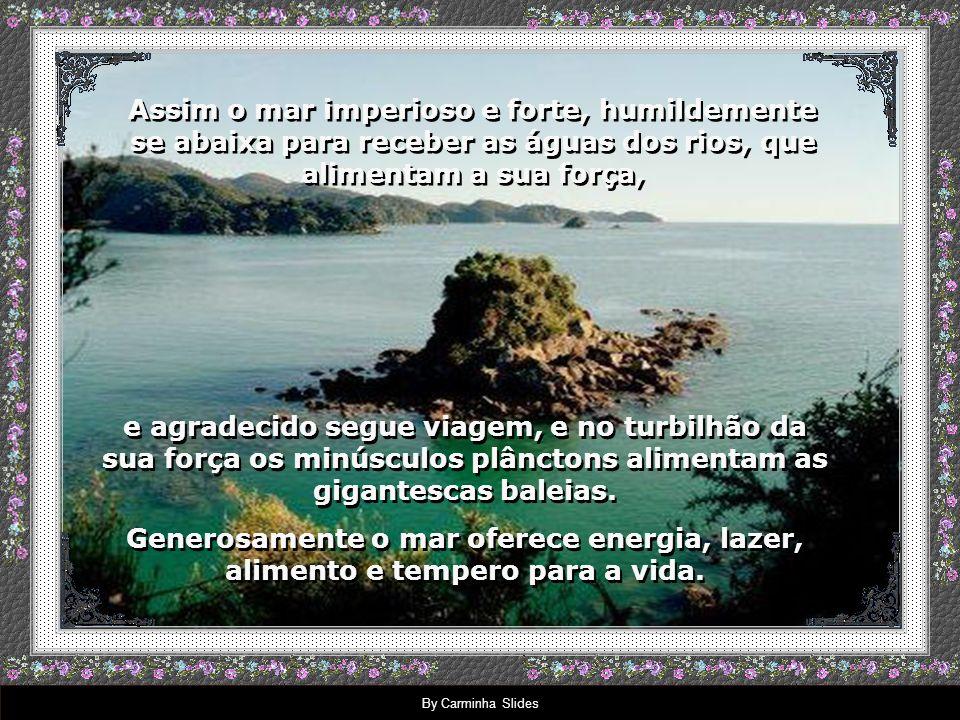 By Carminha Slides Sabe por que a natureza é tão bela e perfeita.