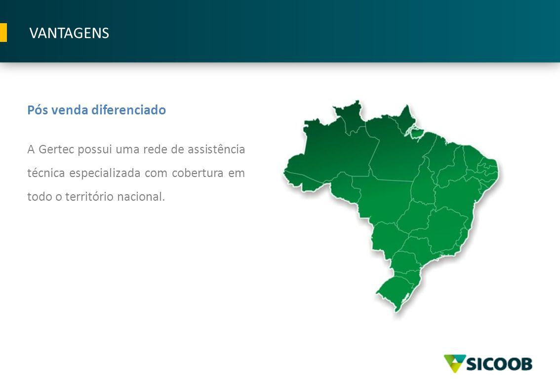 Pós venda diferenciado A Gertec possui uma rede de assistência técnica especializada com cobertura em todo o território nacional. VANTAGENS