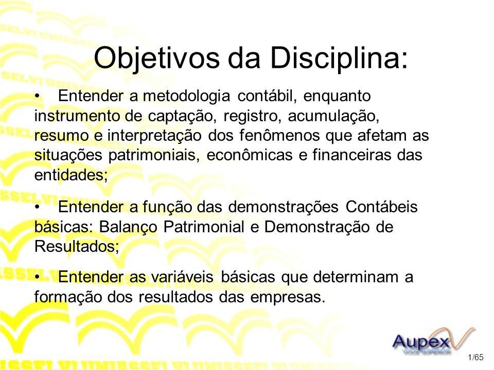 Unidade 1 A CONTABILIDADE, O PATRIMÔNIO E AS CONTAS 2/65
