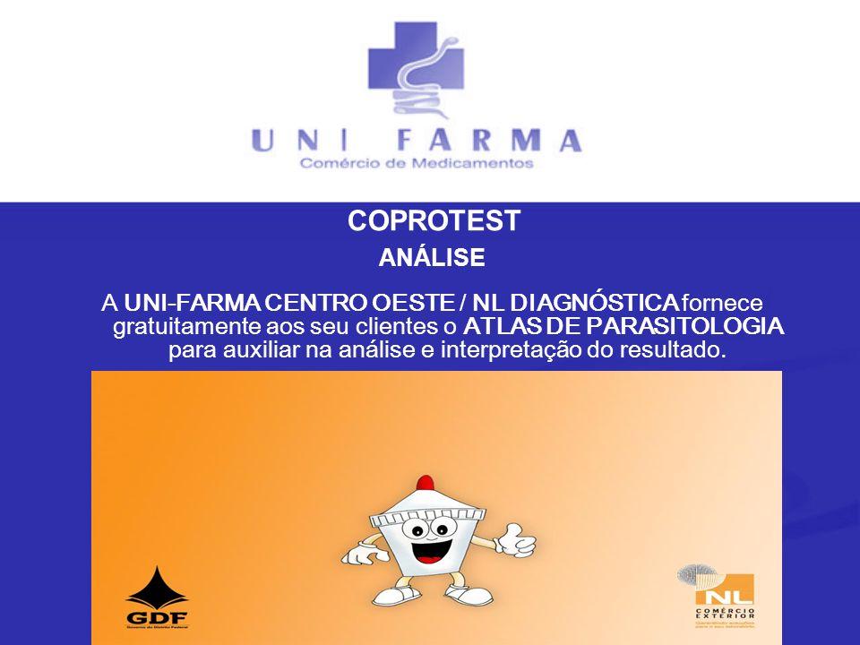 ANÁLISE A UNI-FARMA CENTRO OESTE / NL DIAGNÓSTICA fornece gratuitamente aos seu clientes o ATLAS DE PARASITOLOGIA para auxiliar na análise e interpret