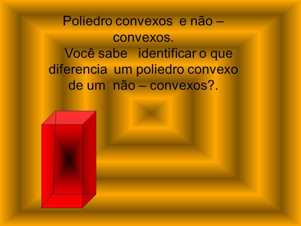 Poliedro convexos e não – convexos. Você sabe identificar o que diferencia um poliedro convexo de um não – convexos?.