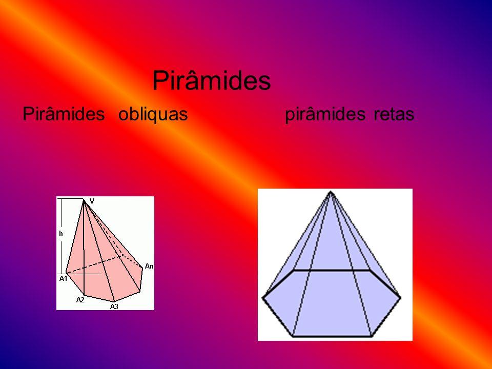 Pirâmides Pirâmides obliquas pirâmides retas