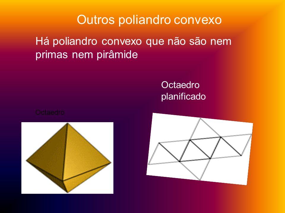 Outros poliandro convexo Há poliandro convexo que não são nem primas nem pirâmide Octaedro Octaedro planificado