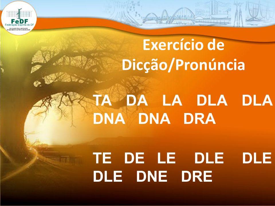Exercício de Dicção/Pronúncia TI DI LI DILI DLI DINE DNI DRI TO DO LO DLO DLO DNO DNO DRO