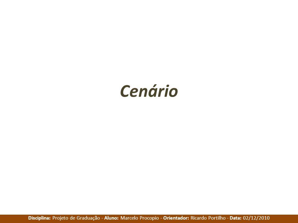 Disciplina: Projeto de Graduação - Aluno: Marcelo Procopio - Orientador: Ricardo Portilho - Data: 02/12/2010 Cenário