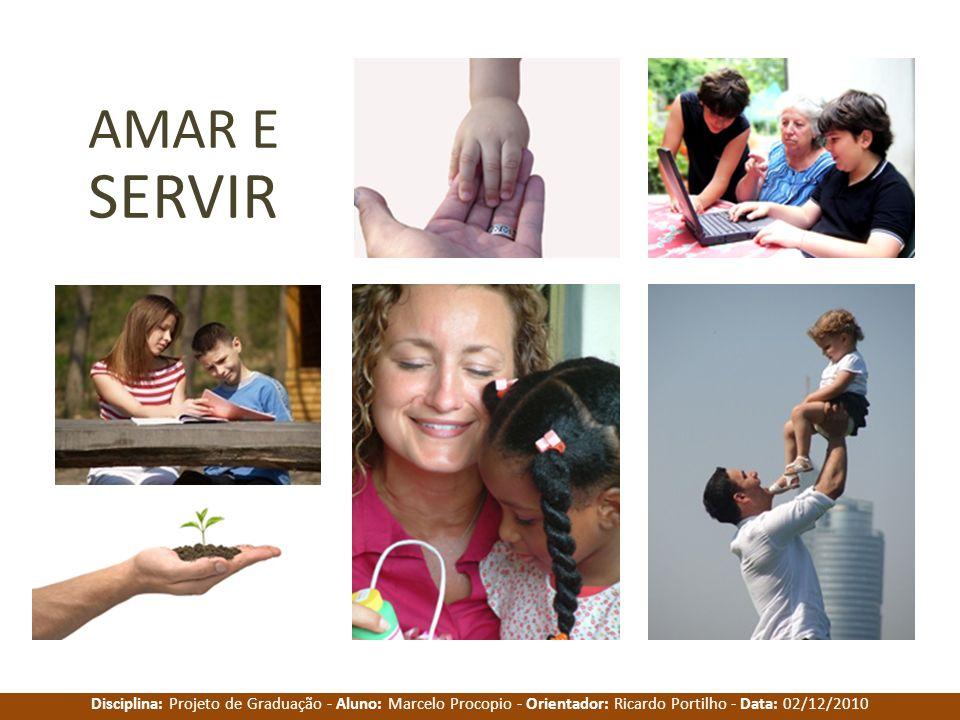 Disciplina: Projeto de Graduação - Aluno: Marcelo Procopio - Orientador: Ricardo Portilho - Data: 02/12/2010 AMAR E SERVIR