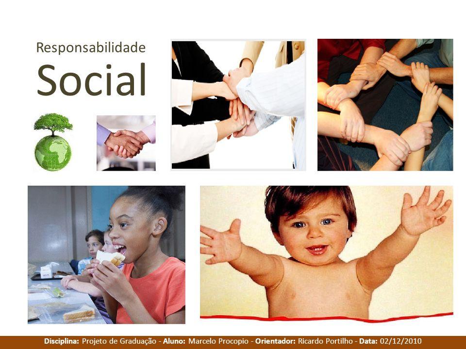 Disciplina: Projeto de Graduação - Aluno: Marcelo Procopio - Orientador: Ricardo Portilho - Data: 02/12/2010 Responsabilidade Social