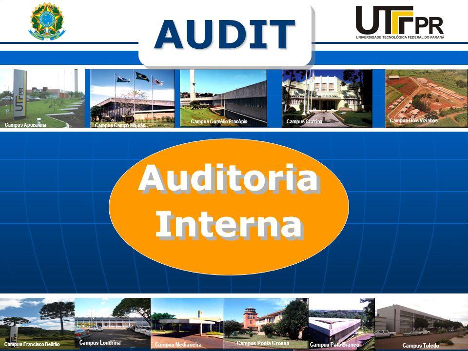 Auditoria Interna Auditoria Interna Campus Apucarana Campus Campo Mourão Campus Cornélio Procópio Campus Curitiba Campus Dois Vizinhos Campus Pato Bra