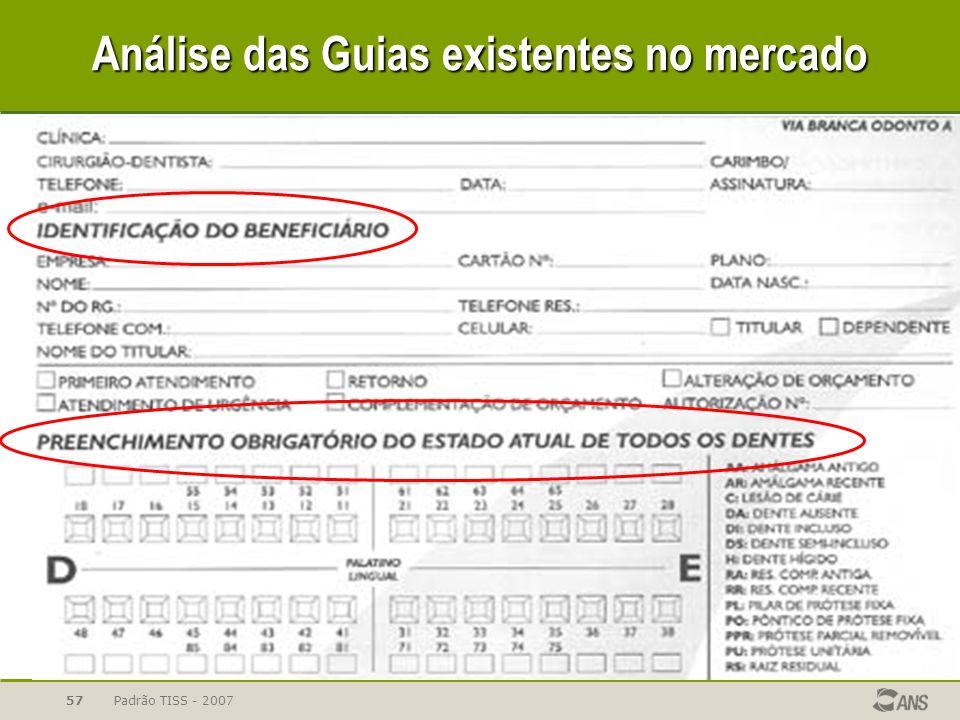 Padrão TISS - 200757 Análise das Guias existentes no mercado