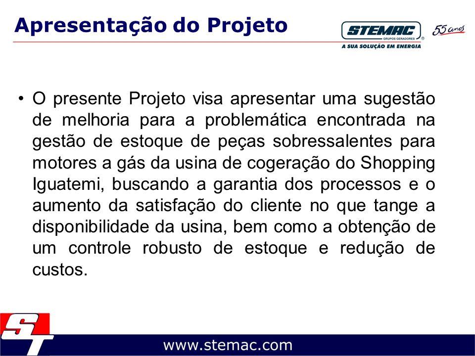 Apresentação do Projeto O presente Projeto visa apresentar uma sugestão de melhoria para a problemática encontrada na gestão de estoque de peças sobre