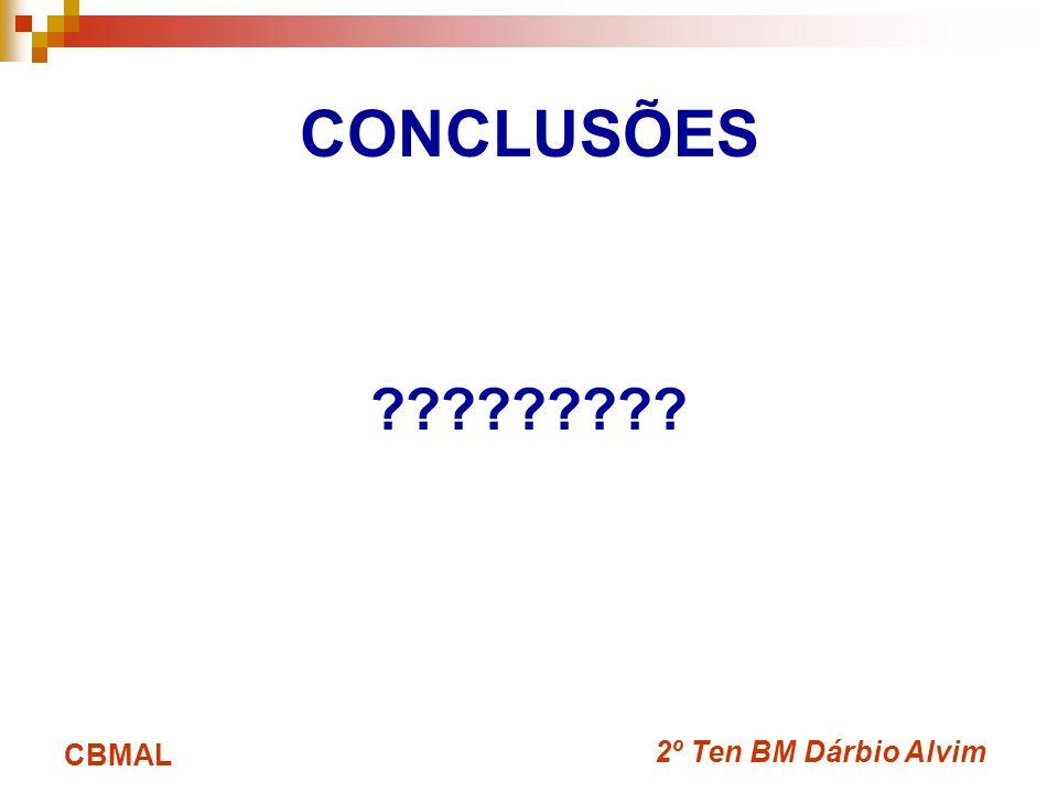 2º Ten BM Dárbio Alvim CBMAL CONCLUSÕES ?????????