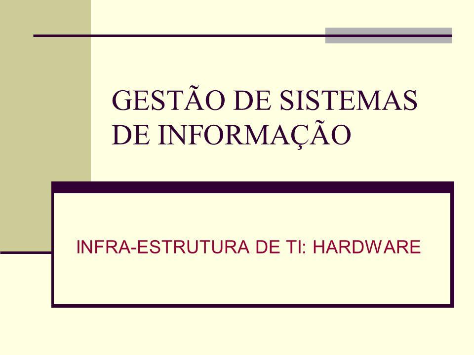 GESTÃO DE SISTEMAS DE INFORMAÇÃO INFRA-ESTRUTURA DE TI: HARDWARE