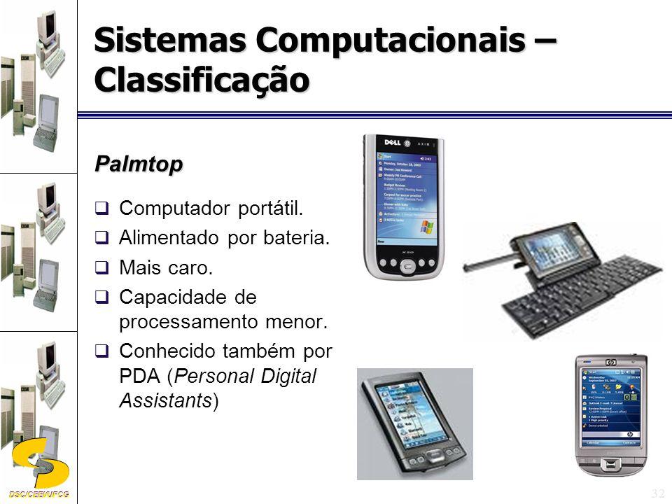 DSC/CEEI/UFCG 32 Palmtop Computador portátil.Alimentado por bateria.