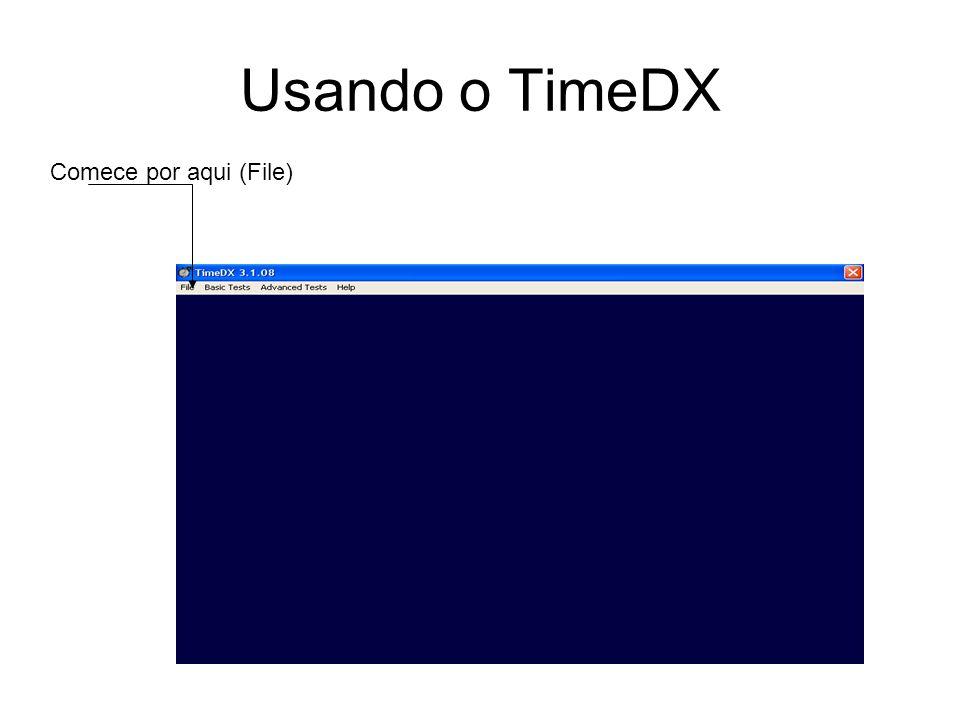 Usando o TimeDX Comece por aqui (File)