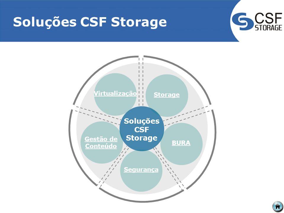 Soluções CSF Storage VirtualizaçãoStorageBURASegurança Gestão de Conteúdo