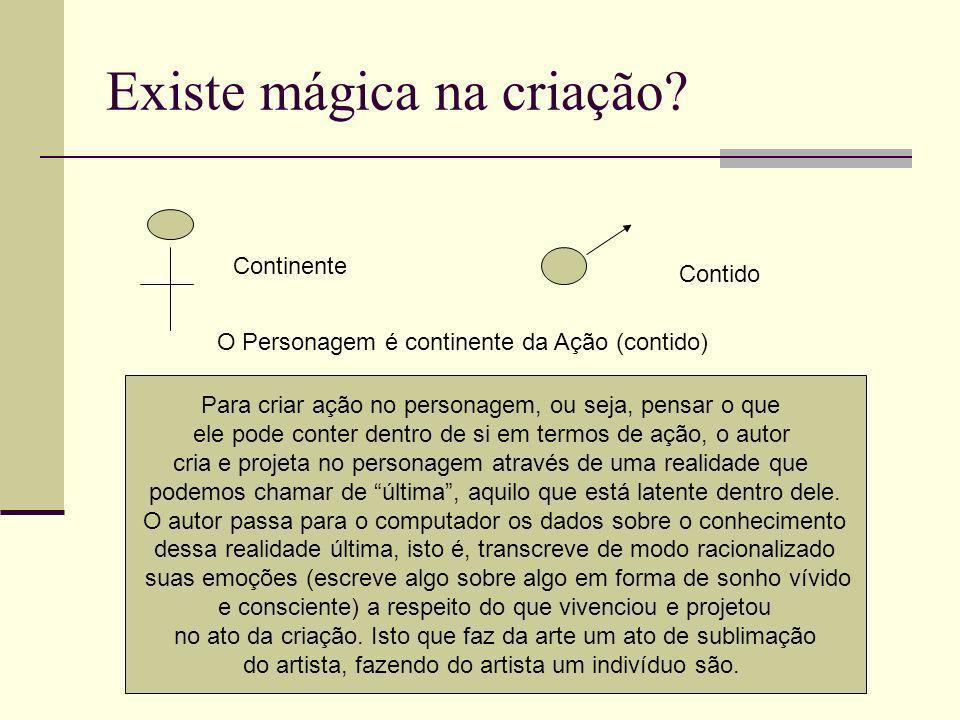 Existe mágica na criação.