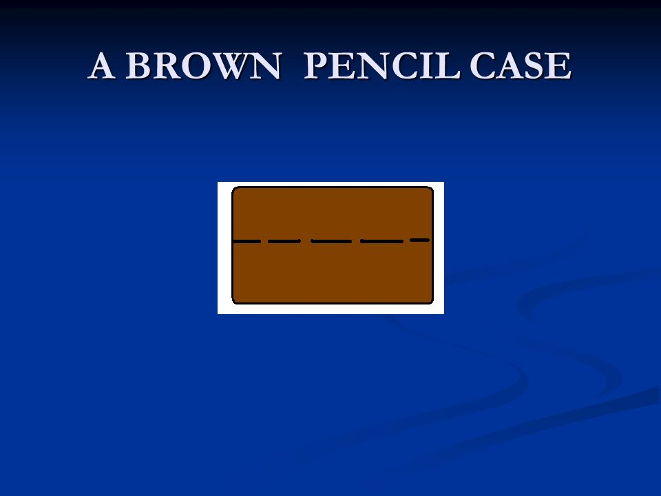 A BROWN PENCIL CASE