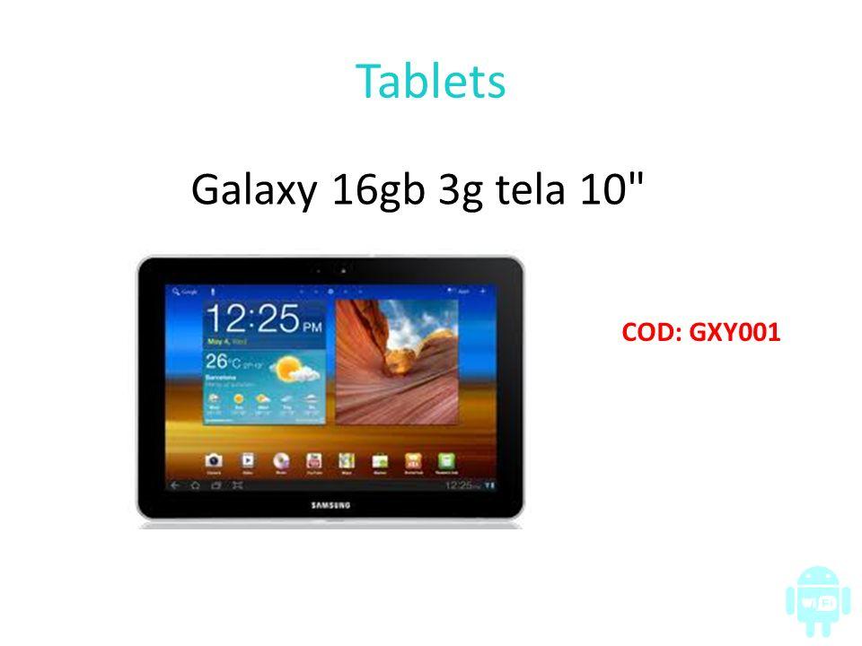 Tablets Galaxy 16gb 3g tela 10
