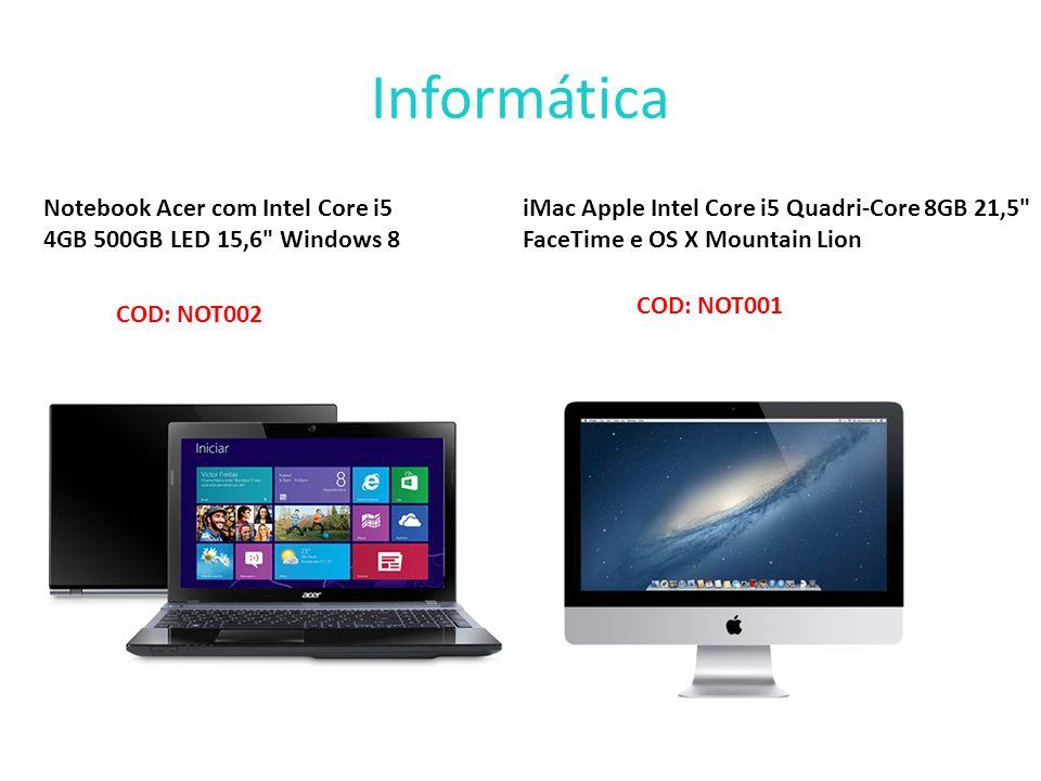 Informática Notebook Acer com Intel Core i5 4GB 500GB LED 15,6