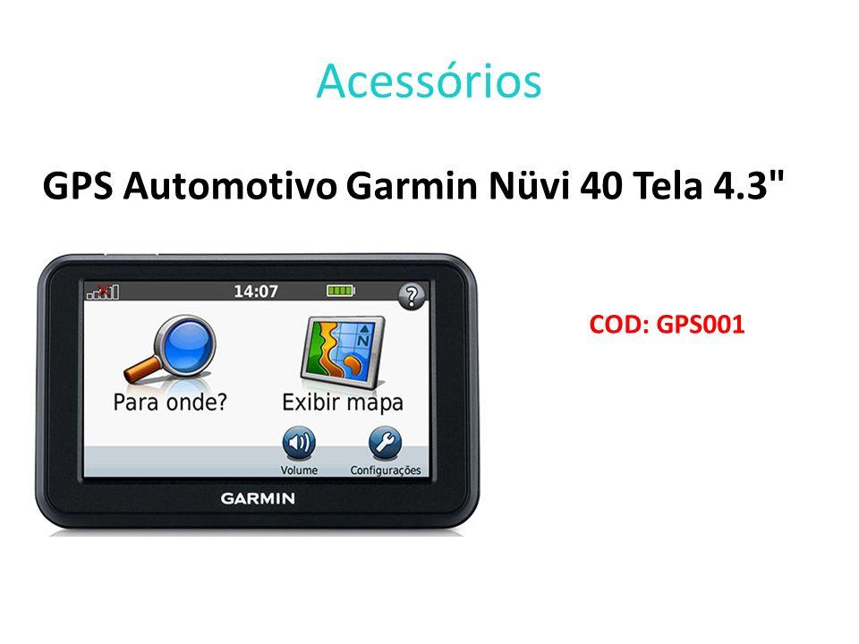 Acessórios GPS Automotivo Garmin Nüvi 40 Tela 4.3