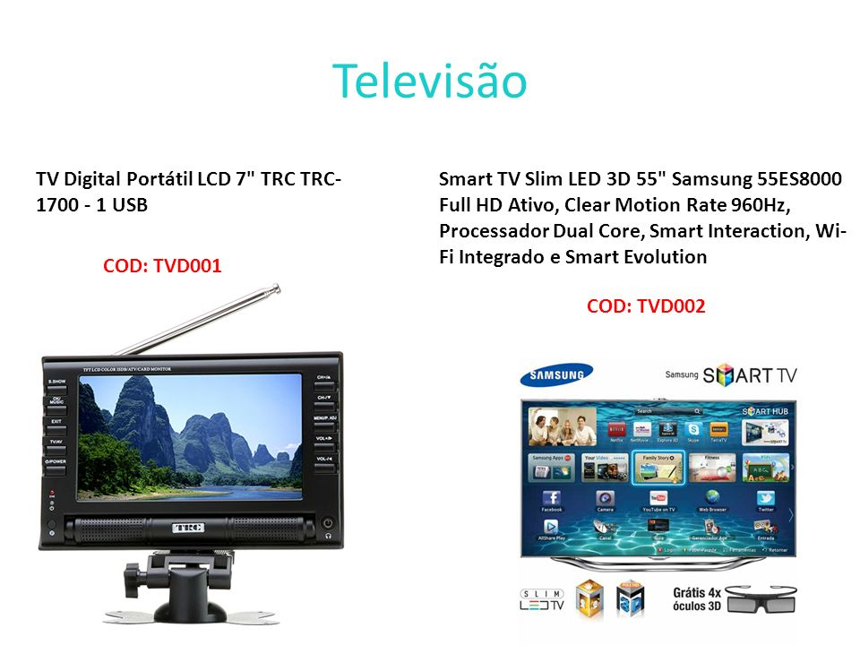 Televisão TV Digital Portátil LCD 7