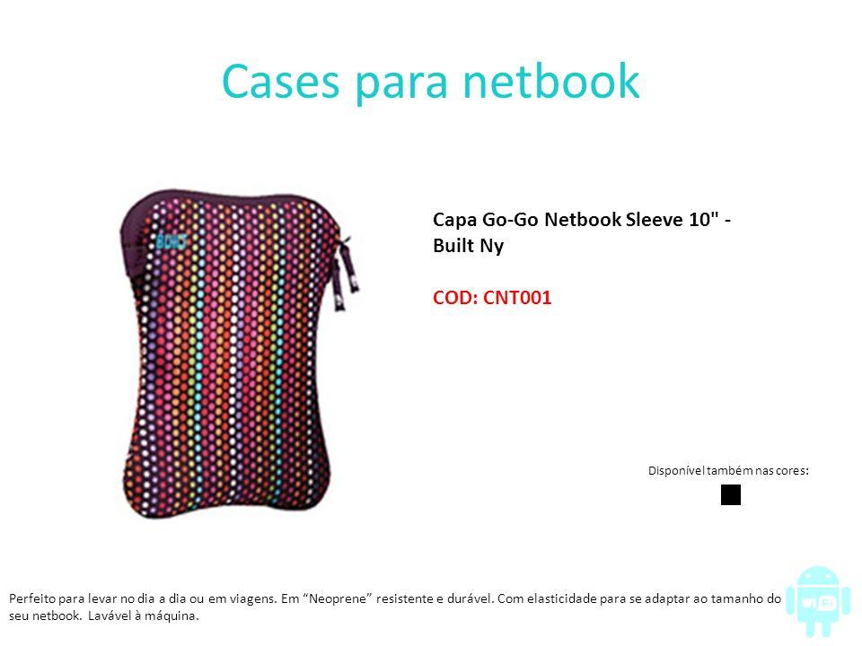 Cases para notebook Bolsa para Notebook Fontana 13,5 - Vax Barcelona COD: CNT002 E nas cores: Case em Poliéster p/ Notebook 14.1 - Branco/ Vermelho – Maxprint COD: CNT004