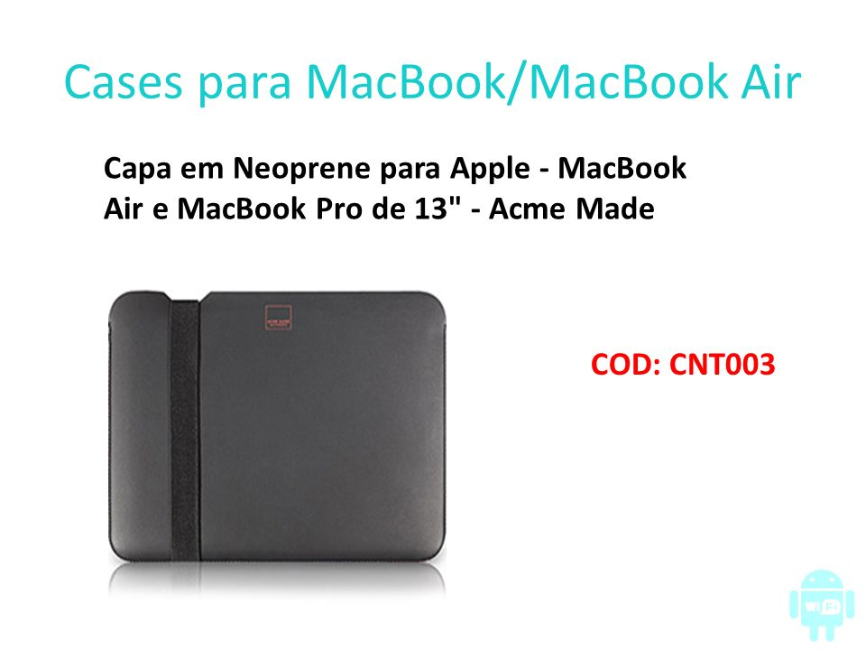 Cases para MacBook/MacBook Air Capa em Neoprene para Apple - MacBook Air e MacBook Pro de 13