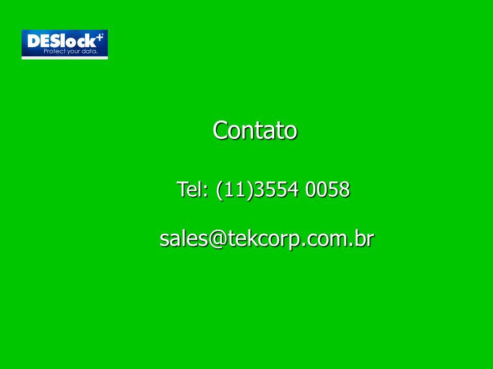 Tel: (11)3554 0058 sales@tekcorp.com.br Contato