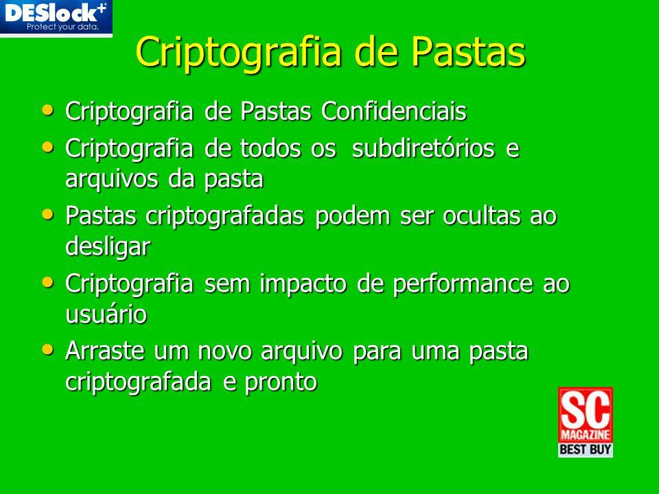 Criptografia de Pastas Criptografia de Pastas Confidenciais Criptografia de Pastas Confidenciais Criptografia de todos os subdiretórios e arquivos da