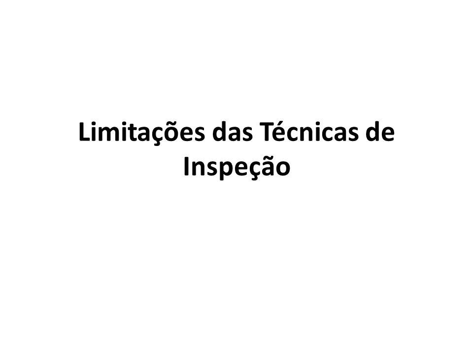 Limitações das Técnicas de Inspeção