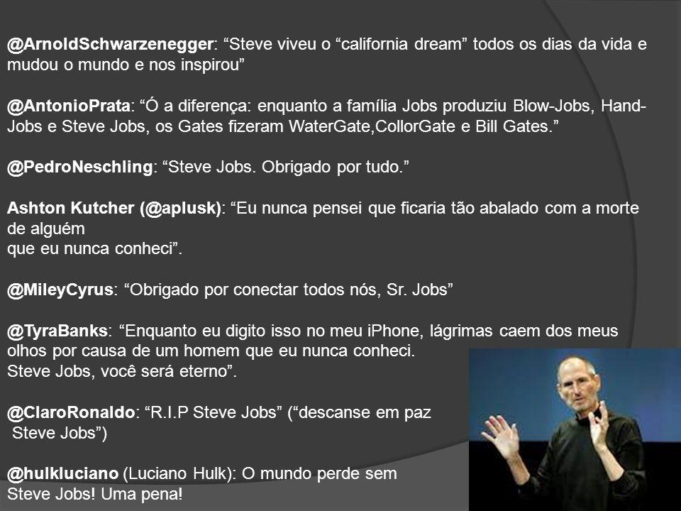 @NelsonPiquet: Meus mais profundos sentimentos a Steve Jobs e sua família.
