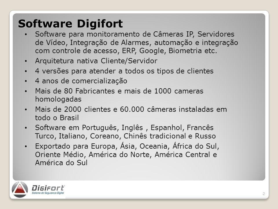 Software Digifort 2 Software para monitoramento de Câmeras IP, Servidores de Vídeo, Integração de Alarmes, automação e integração com controle de aces