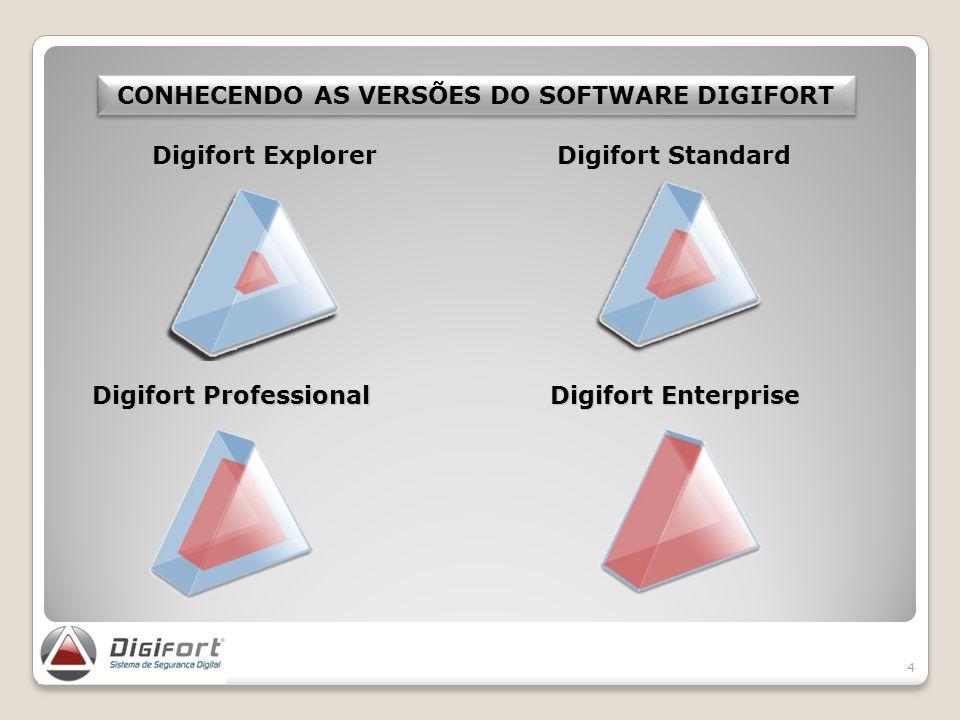 4 CONHECENDO AS VERSÕES DO SOFTWARE DIGIFORT Digifort Standard Digifort Professional Digifort Enterprise Digifort Explorer
