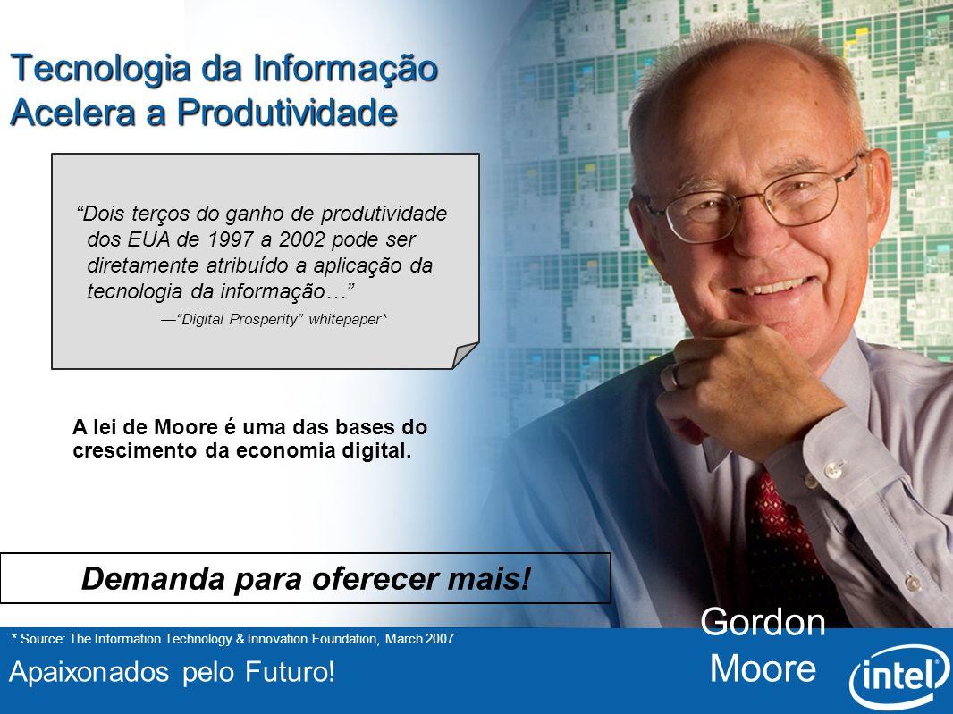 Apaixonados pelo Futuro! Tecnologia da Informação Acelera a Produtividade * Source: The Information Technology & Innovation Foundation, March 2007 A l