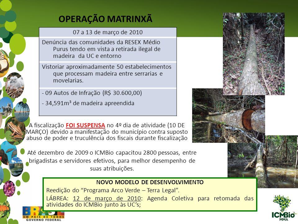 07 a 13 de março de 2010 Denúncia das comunidades da RESEX Médio Purus tendo em vista a retirada ilegal de madeira da UC e entorno Vistoriar aproximad