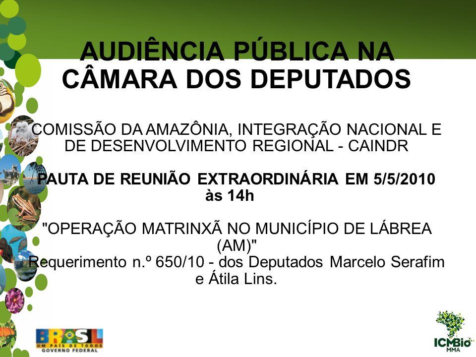 AUDIÊNCIA PÚBLICA NA CÂMARA DOS DEPUTADOS COMISSÃO DA AMAZÔNIA, INTEGRAÇÃO NACIONAL E DE DESENVOLVIMENTO REGIONAL - CAINDR PAUTA DE REUNIÃO EXTRAORDIN