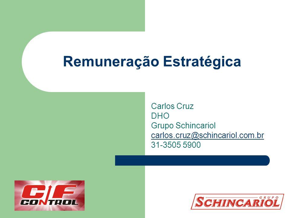 Remuneração Estratégica Carlos Cruz DHO Grupo Schincariol carlos.cruz@schincariol.com.br 31-3505 5900