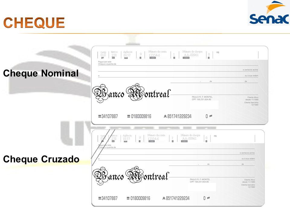 Cheque Nominal Cheque Cruzado