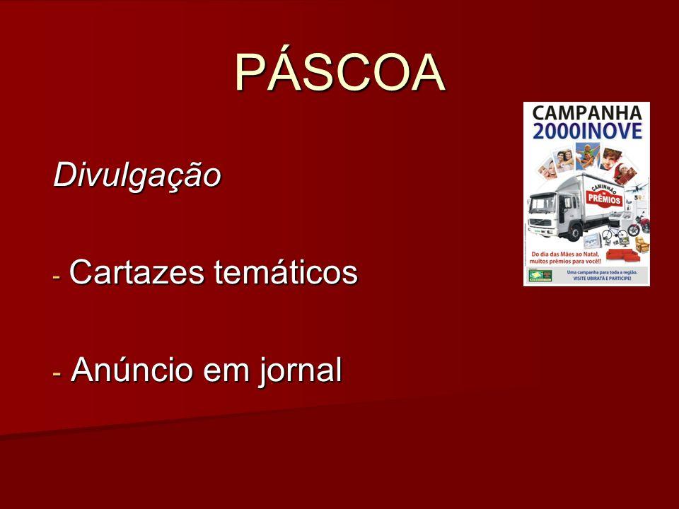 PÁSCOA Divulgação - Cartazes temáticos - Anúncio em jornal