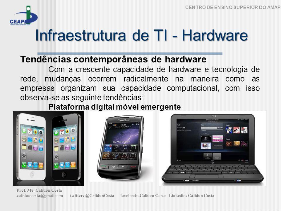 Infraestrutura de TI - Hardware CENTRO DE ENSINO SUPERIOR DO AMAPÁ Tendências contemporâneas de hardware Com a crescente capacidade de hardware e tecn